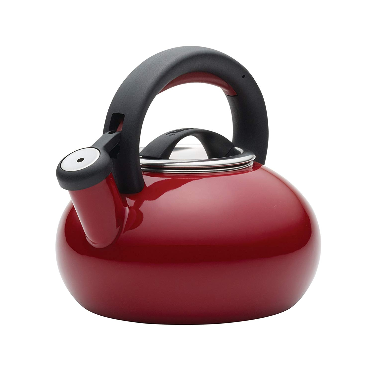 Circulon Sunrise Whistling Tea kettle, 1.4-Liter, Rhubarb Red - Pots and Pans
