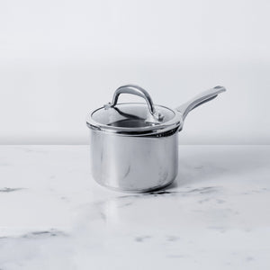 Select Stainless Steel Straining Saucepan 16cm [Induction & Gas Compatible] - Pots and Pans