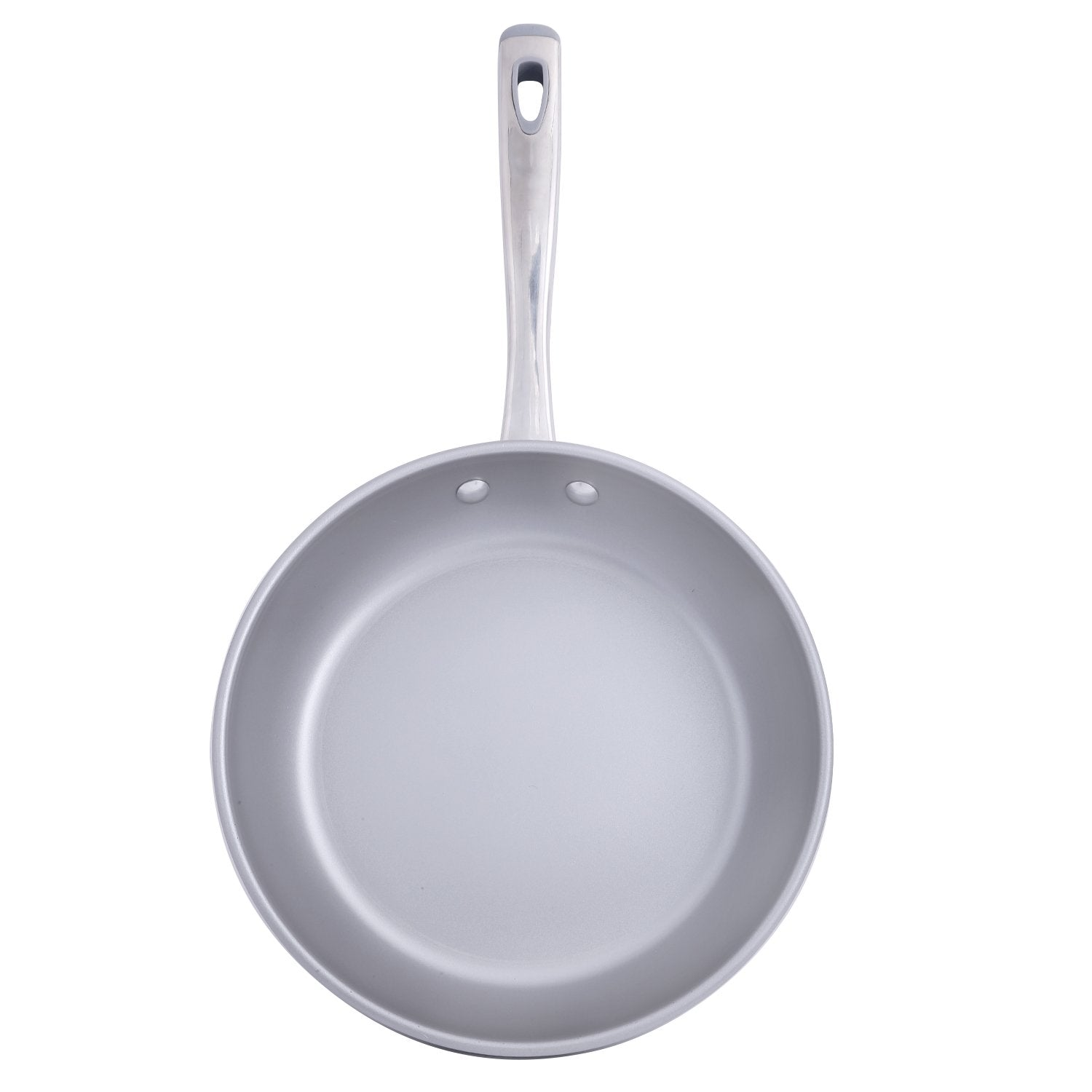 Prism Non-Stick Frypan 20cm, Silver [Induction & Gas Compatible] - PotsandPans