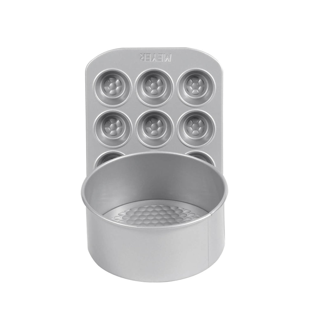 "20cm/8"" Loose Base Cake Tin + 12 Cup Mini Muffin Pan"