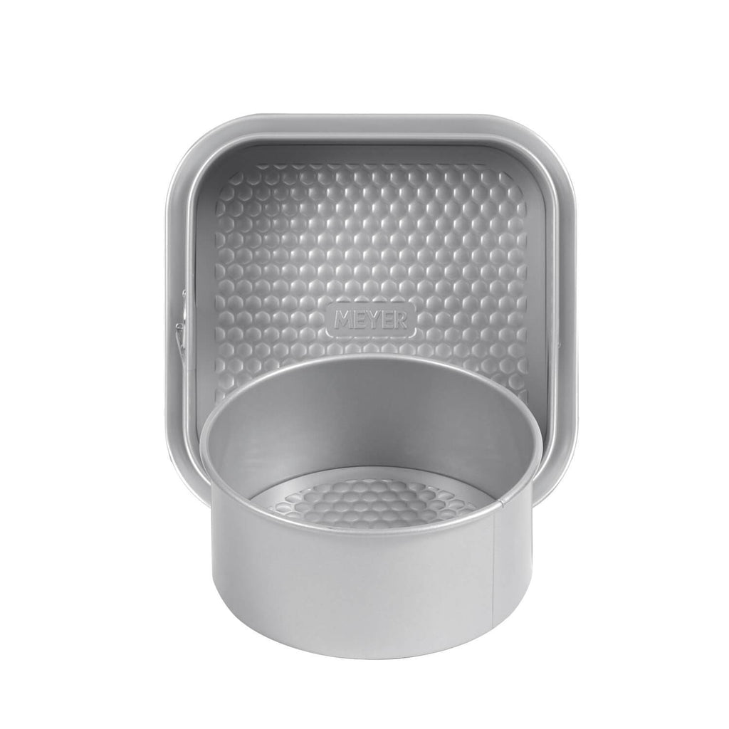 "20cm/8"" Loose Base Cake Tin + 23cm/9"" Square Springform Pan"