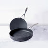 Circulon 2-Piece Set - Round Grill Pan 28cm + Curved Roti Tawa, 26cm - Pots and Pans