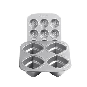 12 Cup Mini Muffin Pan + 4Cup 2Tier Square Cake Pan