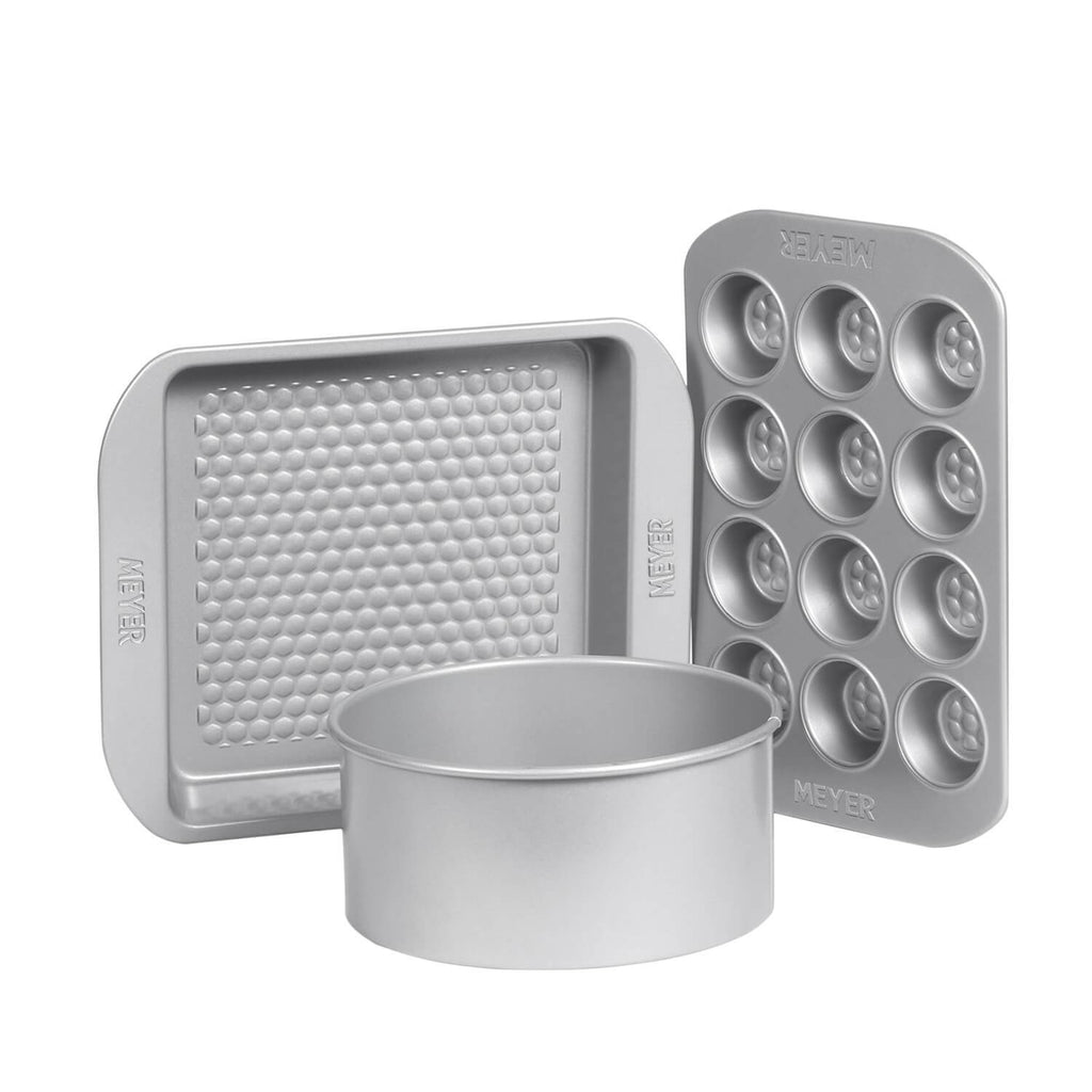 "20cm/8"" Loose Base Cake Tin + 23cm/9"" Square Cake Pan + 12 Cup Mini Muffin Pan"