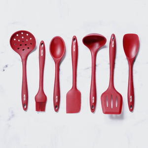 Meyer 7 Pcs Red Silicone Accessory Set - Pots and Pans