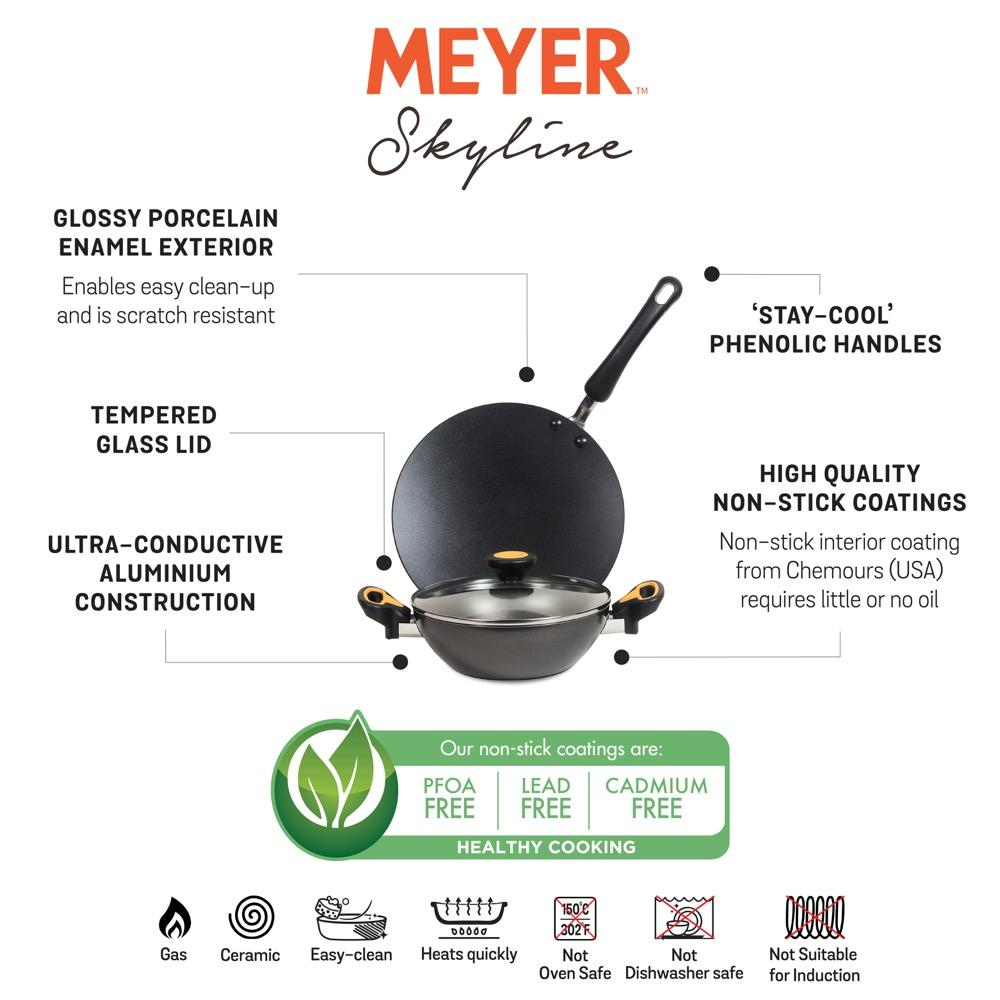 Meyer Skyline 3 Piece cookware set information
