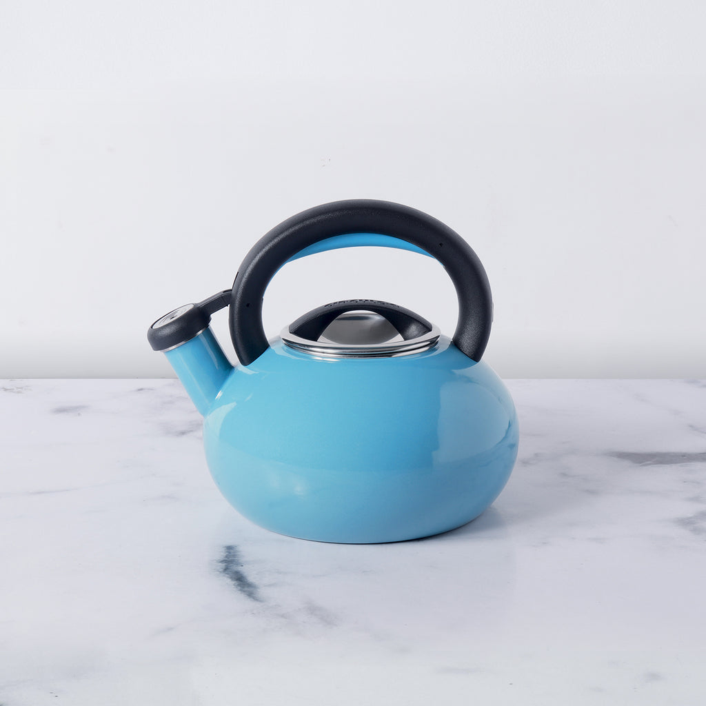 Circulon Sunrise Whistling Teakettle, 1.4L, Capri Turquoise - Pots and Pans