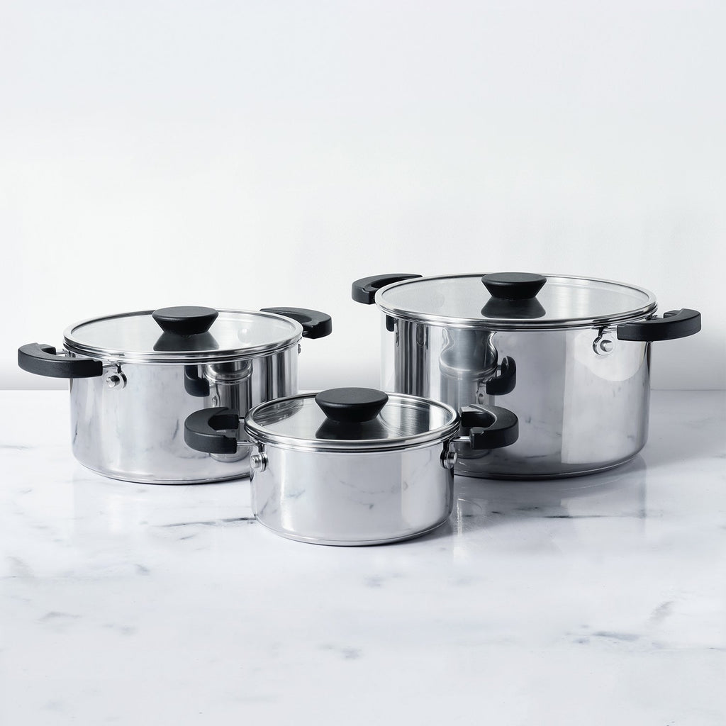 Meyer Kitchen Hacks 3 Piece Casserole Set/ Biryani Pot