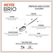 Meyer Brio High-Gloss Stainless Steel Serving Spoon - Pots and Pans