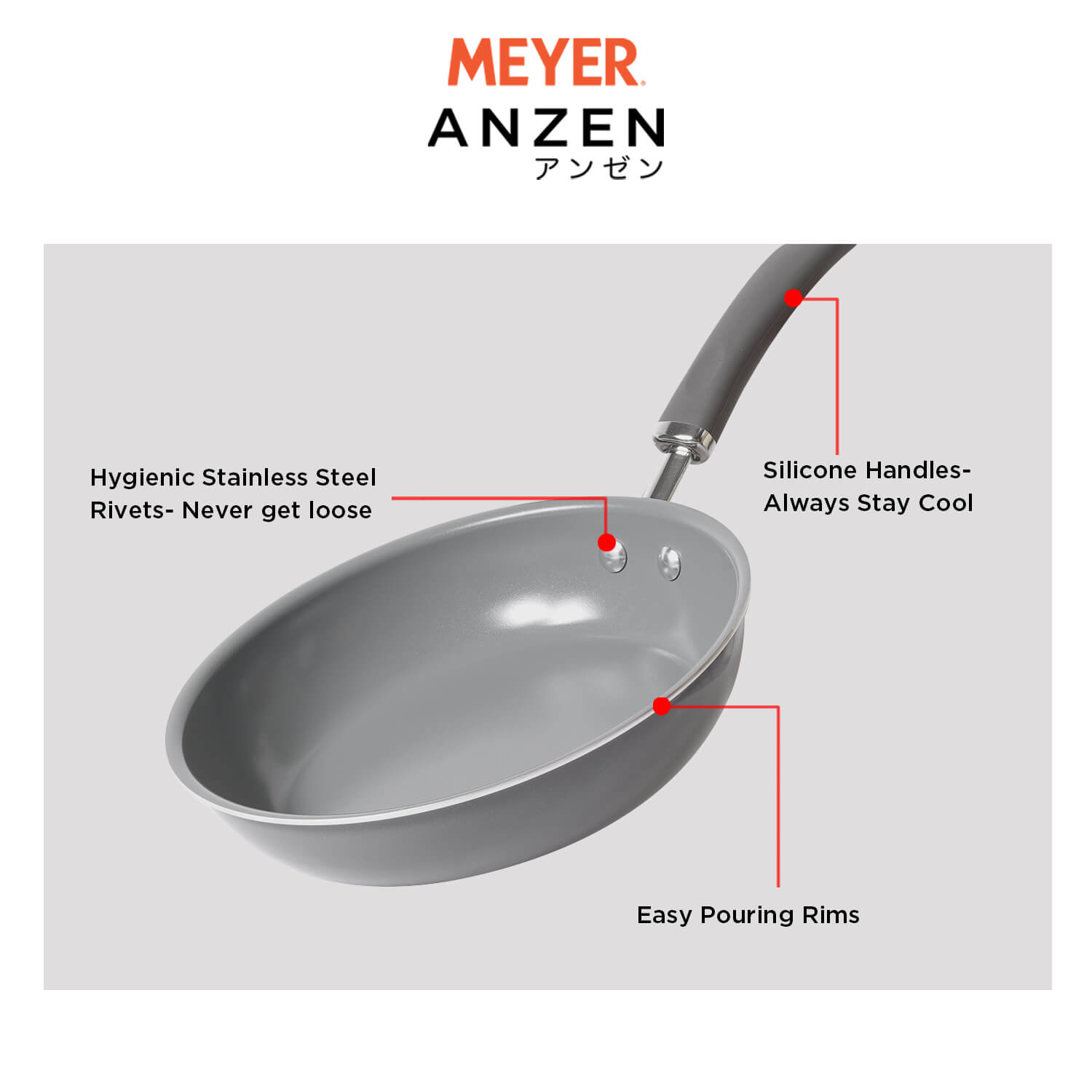 Meyer Anzen 2 piece Set -20cm frypan +24cm frypan - Pots and Pans