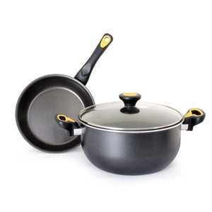 Meyer Skyline Non-Stick 3pcs Cookware Set (22cm Casserole + 20cm Frypan) - Pots and Pans