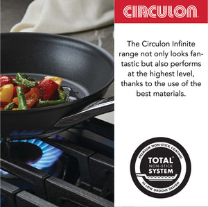 Circulon Infinite Non-Stick + Hard Anodized Sautepan and Tawa 3-Piece Cookware Set
