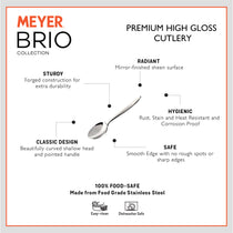 Meyer Brio 6pcs High-Gloss Stainless Steel Tea Spoon Set - Pots and Pans