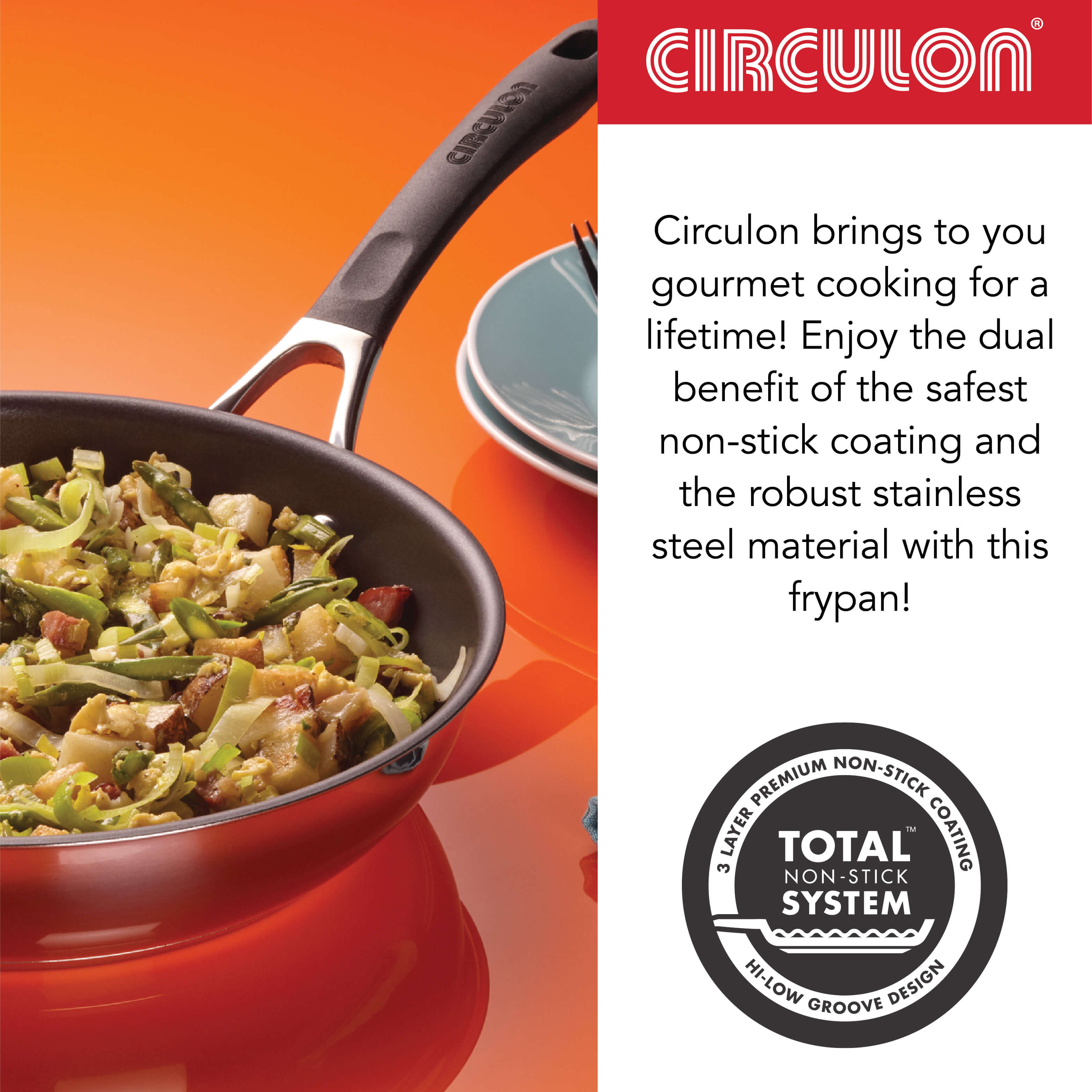 Momentum Non-Stick + Stainless Steel Skillet, 25cm (Gas & Induction Compatible) - Pots and Pans
