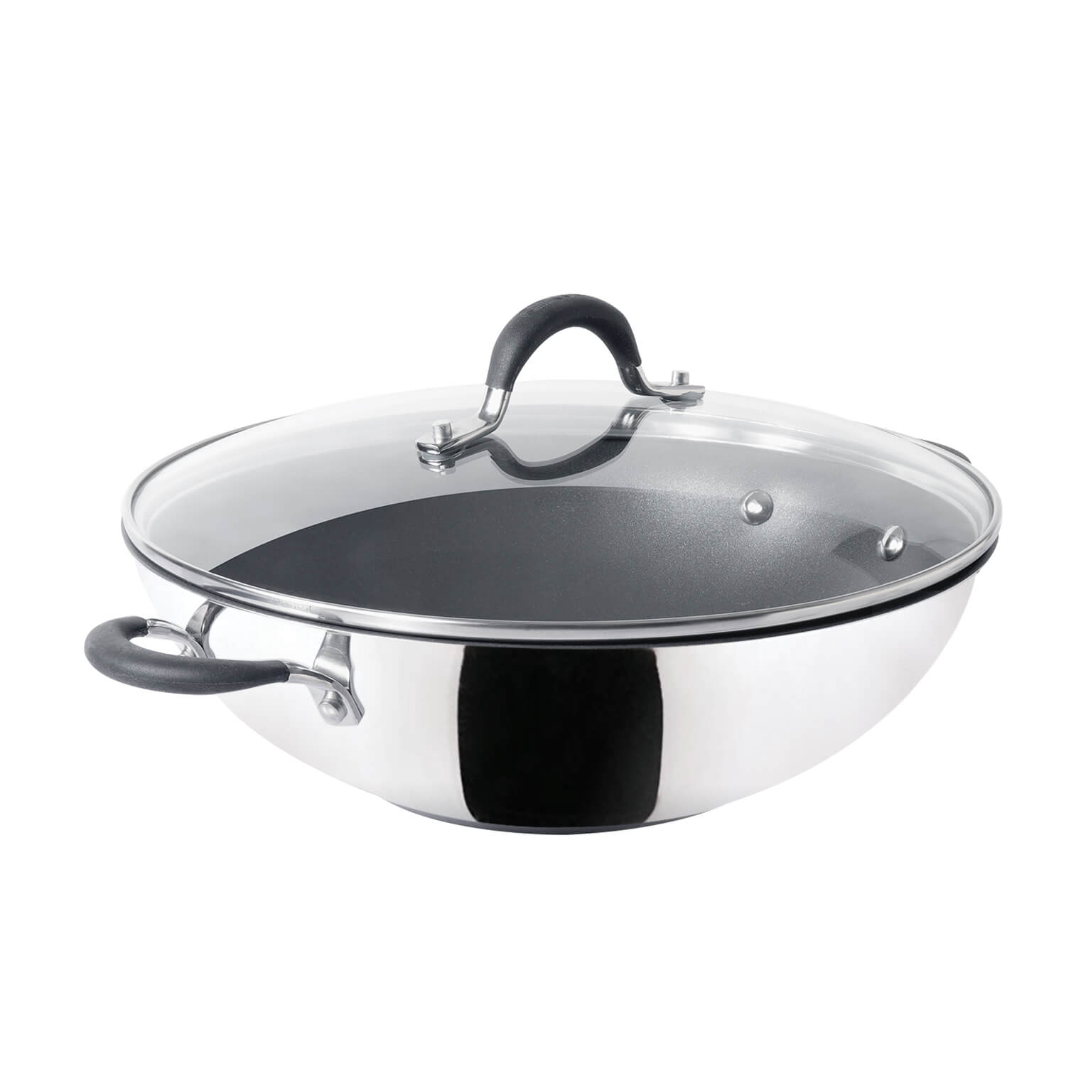 Circulon Momentum 32cm Non-Stick Kadai/Wok with Lid - Pots and Pans