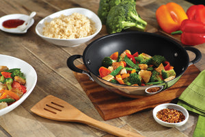Circulon Momentum 3 Piece Set - Kadai with Lid, 27cm + Open Frypan, 25cm - Pots and Pans