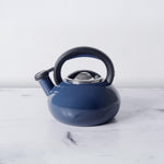 Circulon Sunrise Whistling Teakettle, 1.4-Liter, Navy Blue - Pots and Pans