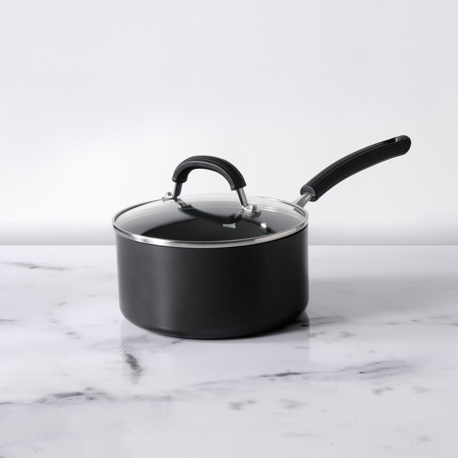 Circulon Origins Non-Stick + Hard Anodized Saucepan 18cm, Grey (Suitable For Gas & Induction) - Pots and Pans