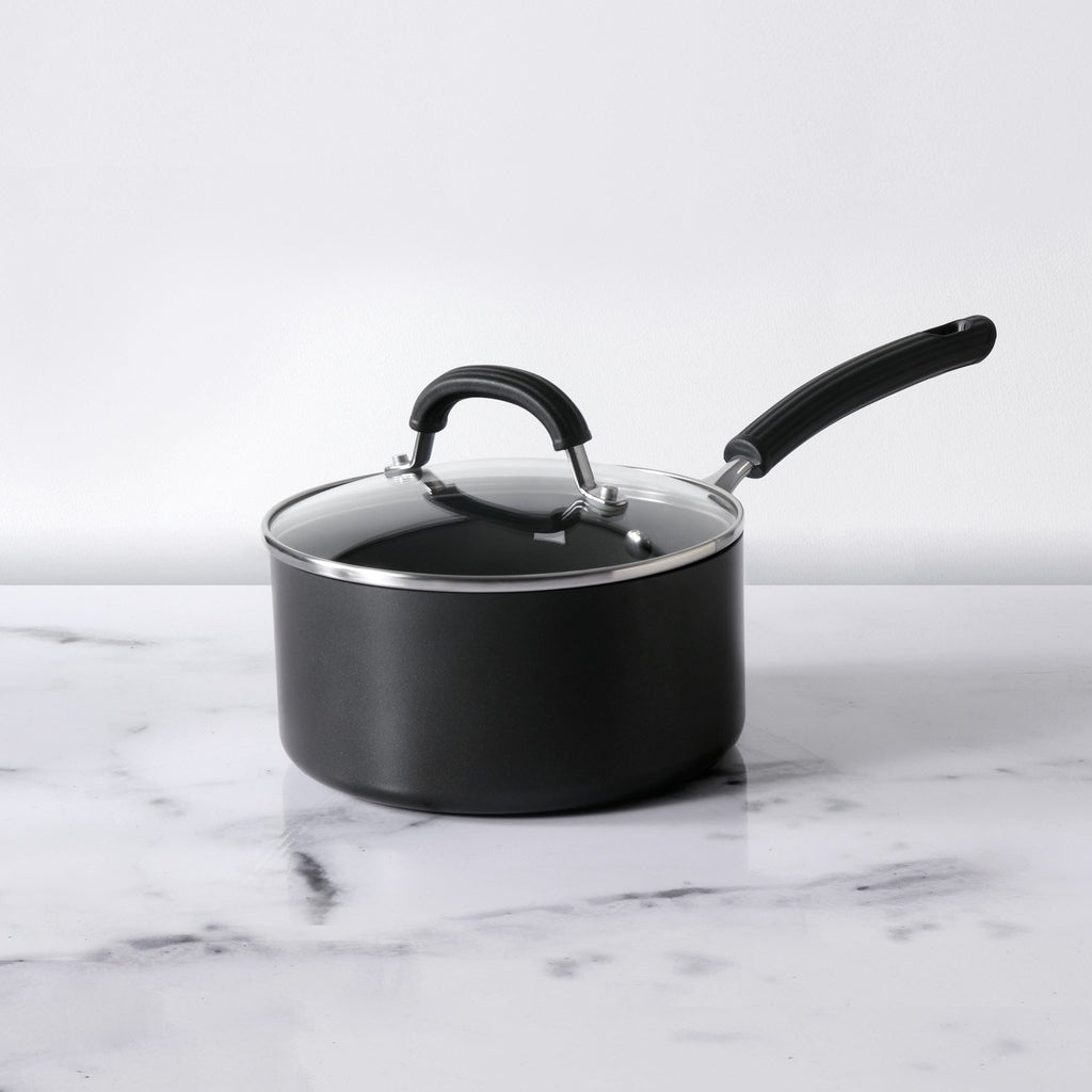 Origins Non-Stick + Hard Anodized Saucepan 20cm, Grey (Suitable For Gas & Induction) - Pots and Pans