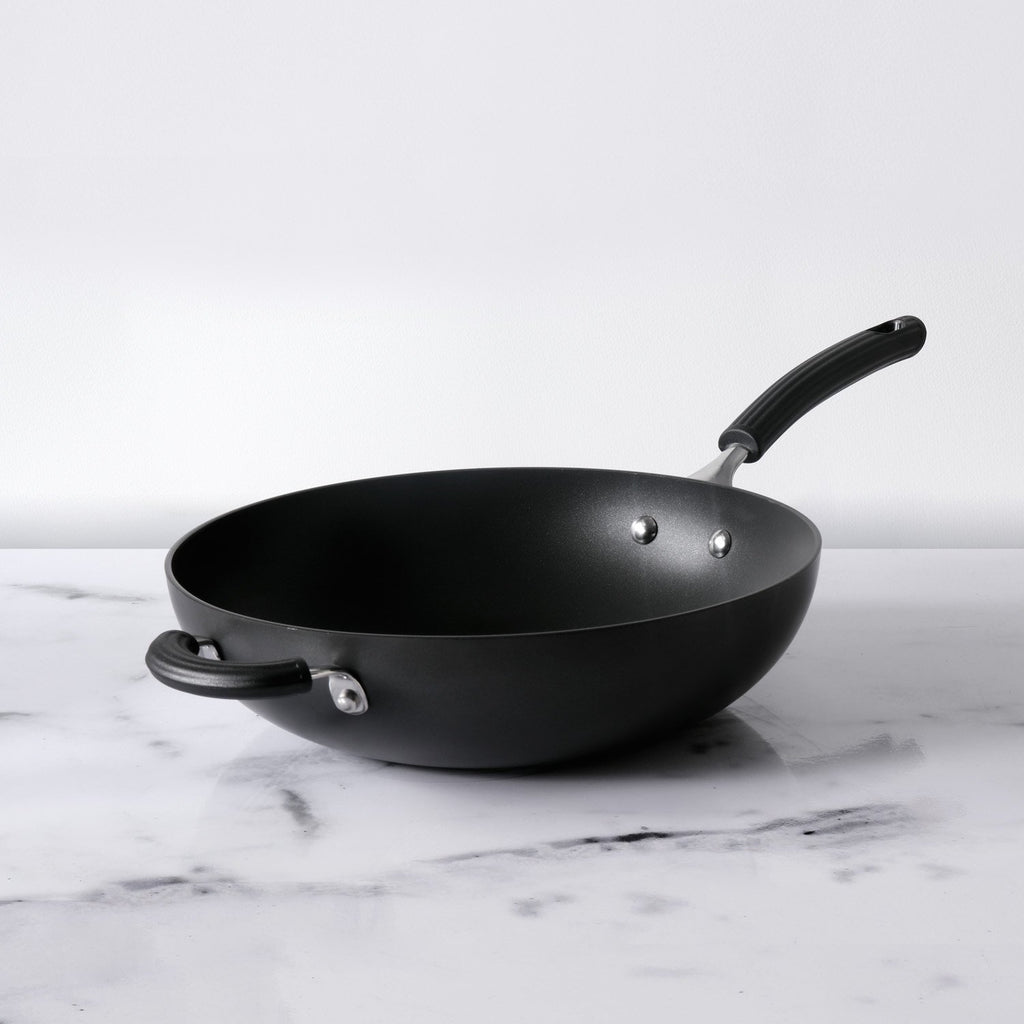 Origins Non-Stick + Hard Anodized Stirfry 30cm, Grey - Pots and Pans