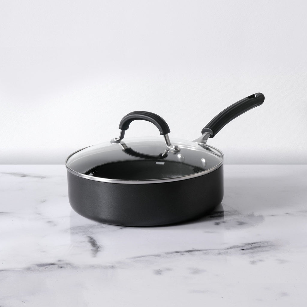 Origins Non-Stick + Hard Anodized Sautepan 24cm, Grey (Suitable For Gas & Induction) - Pots and Pans