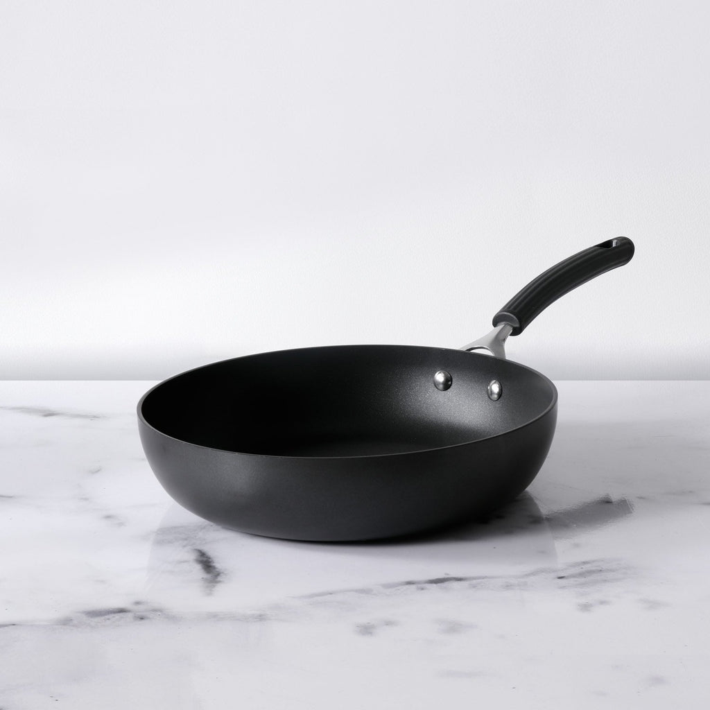 Origins Non-Stick + Hard Anodized Skillet 28cm, Grey (Suitable For Gas & Induction) - Pots and Pans
