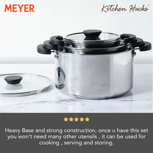 Meyer Kitchen Hacks 3 Piece Casserole Biryani Pot Set