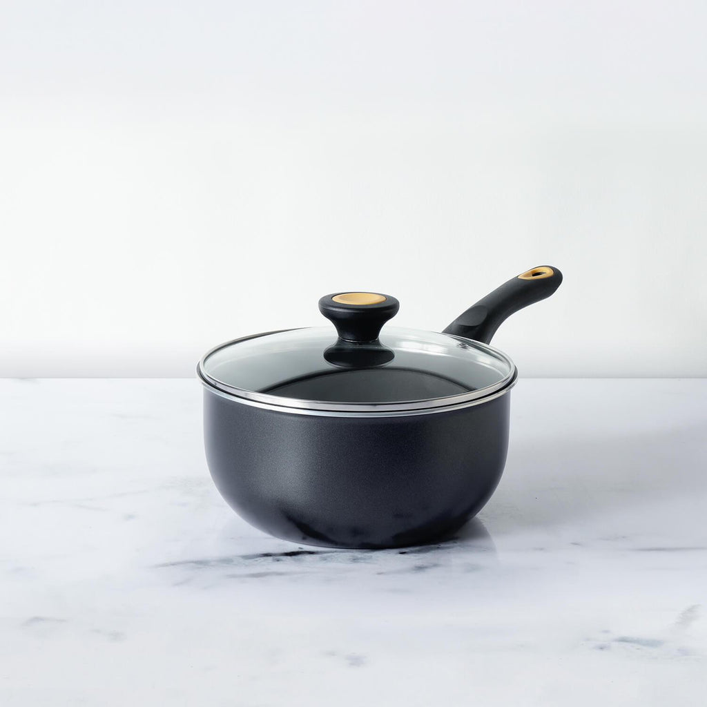Meyer Skyline Non-Stick Saucepan with Lid 2.92 Litres/20cm, Grey - Pots and Pans