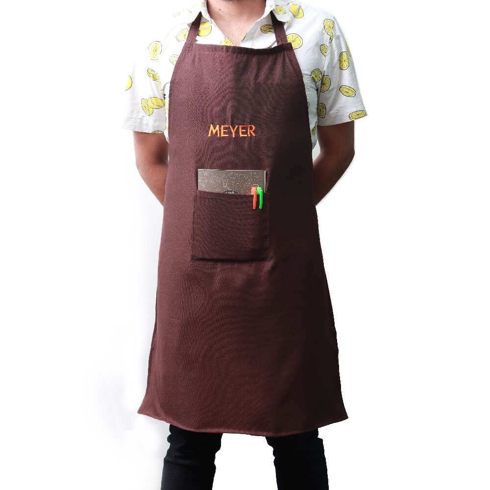 Meyer Kitchen Terry Cotton Apron, Brown - Pots and Pans