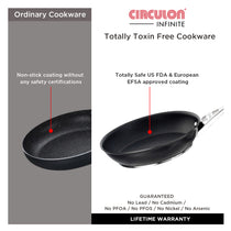 Circulon Infinite Non-Stick + Hard Anodized 2 Pc Cookware Set ( 20cm frypan + 24cm Flat tawa ) - Pots and Pans