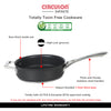 Circulon Infinite Non-Stick + Hard Anodized Aluminium Saute 24cm and Curved Roti Tawa 26cm - Pots and Pans