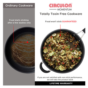 Circulon Momentum 27cm Non-Stick Stirfry/Wok with Helper Handle - Pots and Pans