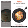 Meyer Flat Tawa Induction, 28cm/3mm Thick, Orange - Pots and Pans
