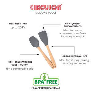 Circulon Silicon Turner & Widen Spatula 2 Pcs Set - Pots and Pans