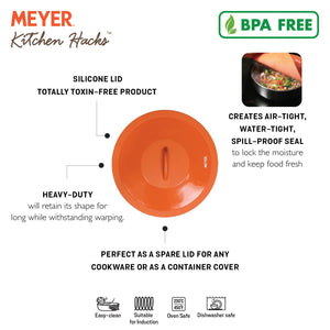 Meyer Silicone Suction Lid - Food Fresh Saver Cover, 34.3 cm - Pots and Pans