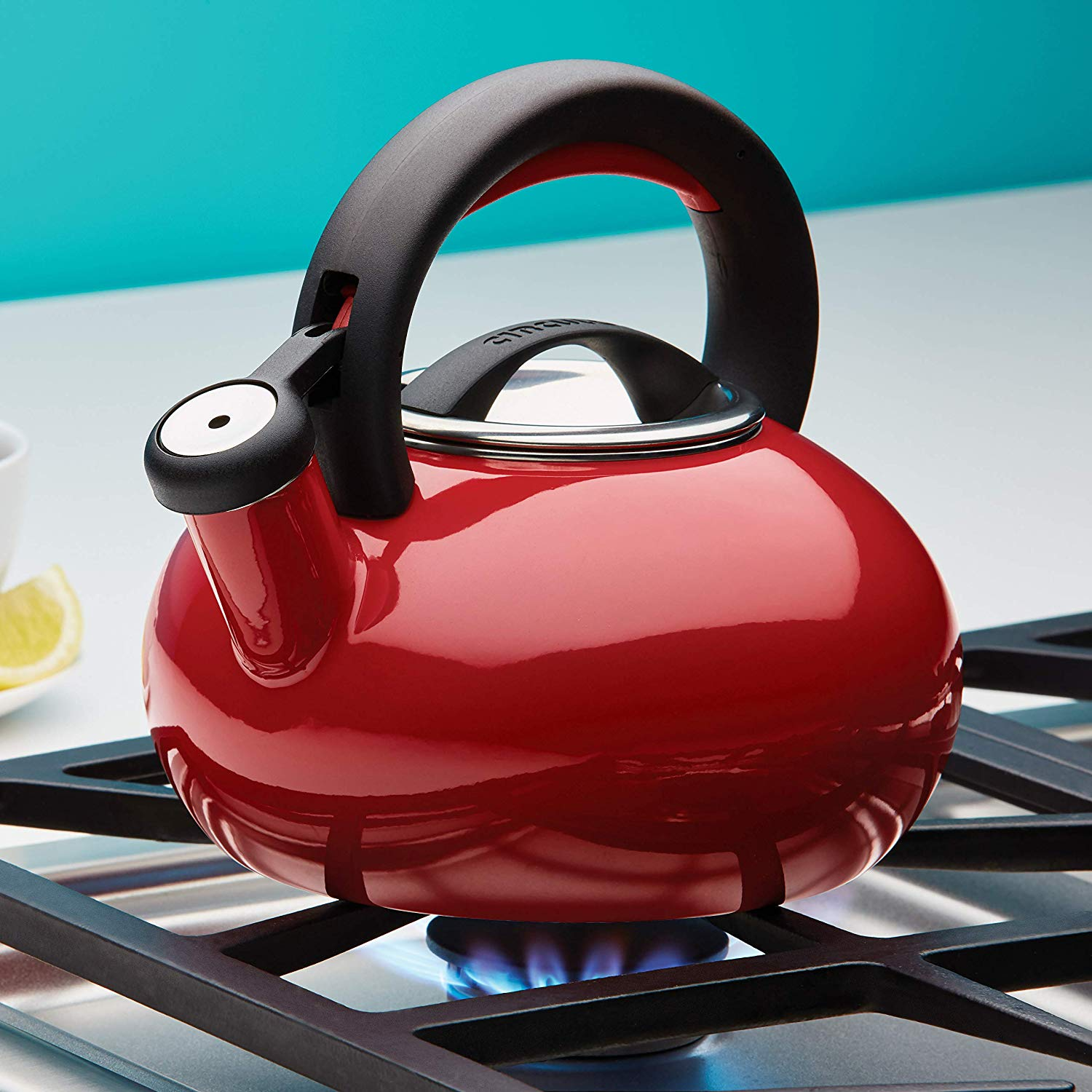Circulon Sunrise Whistling Teakettle, 1.4-Liter, Red - Pots and Pans