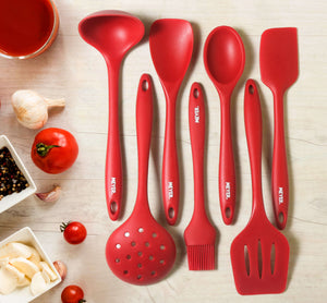 Meyer Silicone Spatula, Red - Pots and Pans