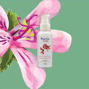 Rose Geranium Body Tonic Oil 玫瑰天竺葵身體護理油 (ezcema, sensitive & dry skins)