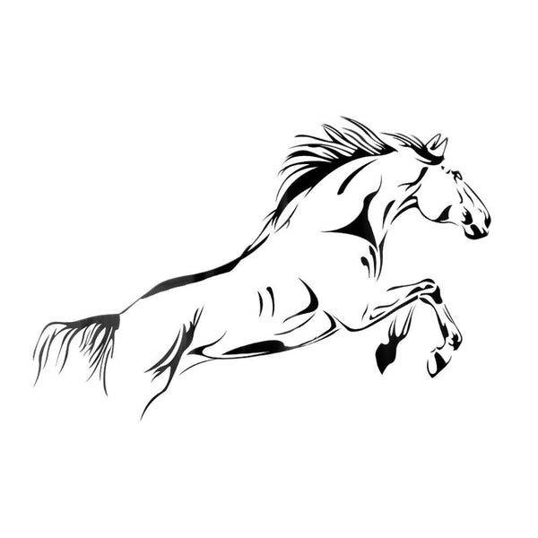 Strong and Elegant, Bucking Horse Mural Art