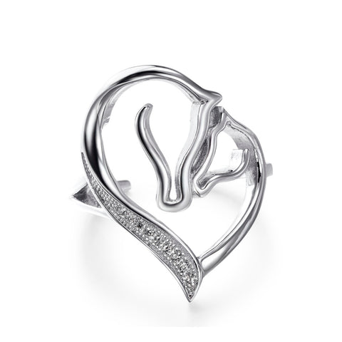 Beautiful Horse and Foal Love Ring