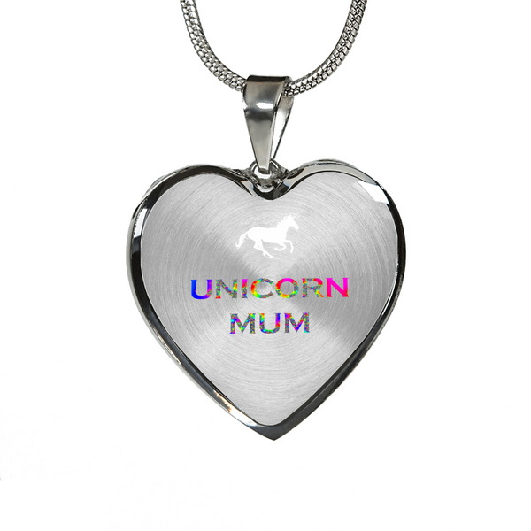 Unique Unicorn Mum Gold and Silver Necklace