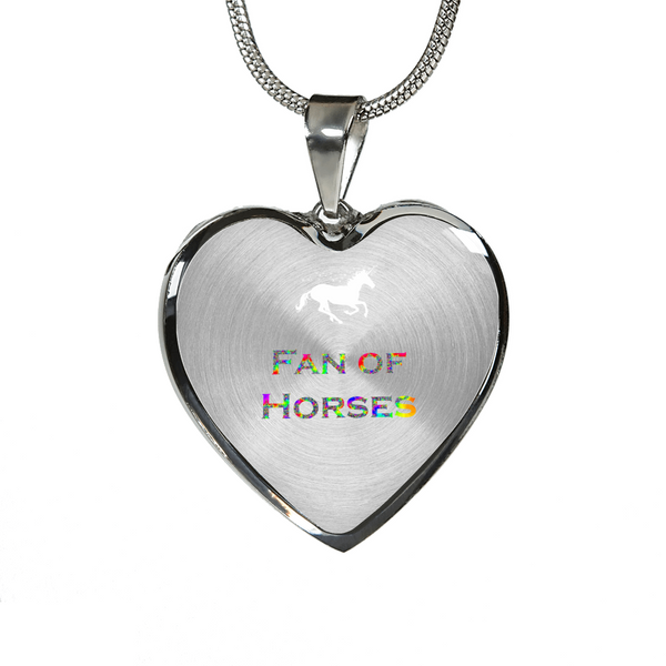 Fan of Horses Unicorn Necklace