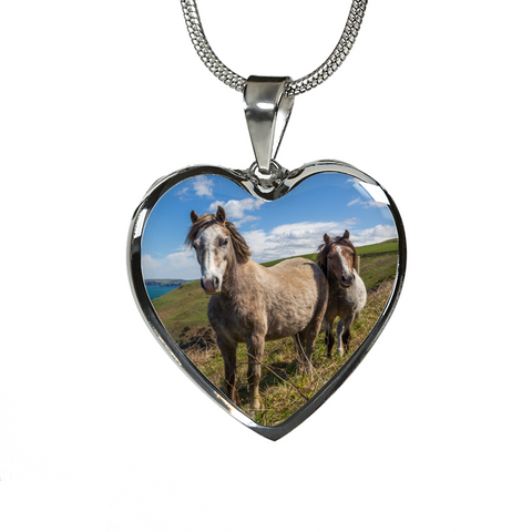 Fan of Horses Coastal Tale Necklace