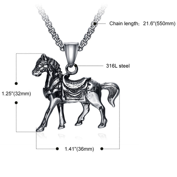 Majestic Horse Necklace
