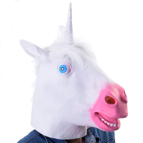 Creepy Unicorn Head Mask for Halloween and other pranks