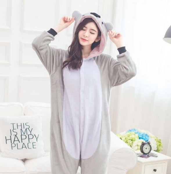 Grey bear pajamas