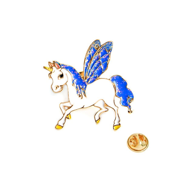 Unicorn Bambicorn Pegasus Alicorn Brooch Button Pin