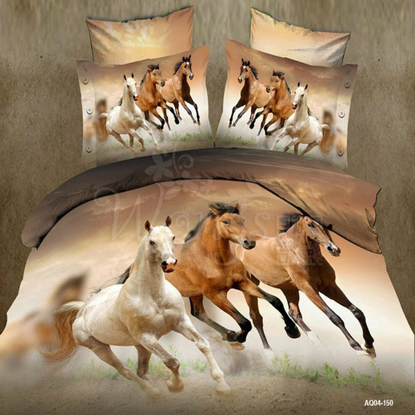 Beautiful Galloping Horses Comforter