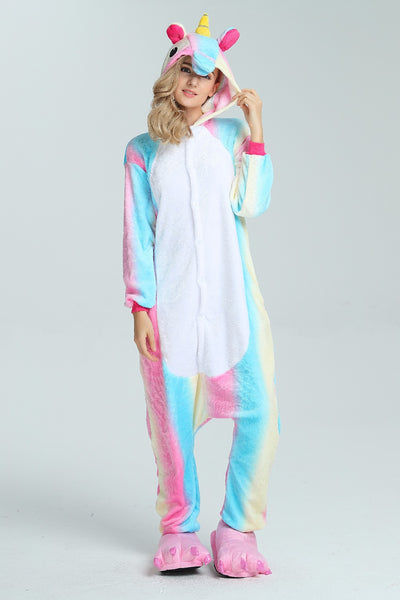 Rainbow unicorn onesie pajamas