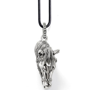 Horse's head necklace